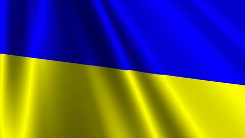 UkraineFlagLoop03 Stock Video Footage
