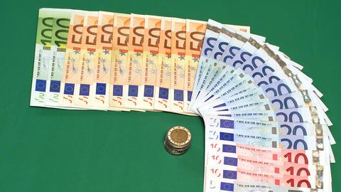 01 Euro Money rota HD 1080 25p Stock Video Footage