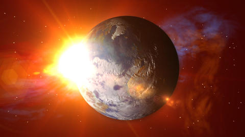 Earth Spin Less Stars Stock Video Footage