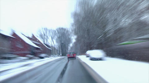 chaos winter drive time lapse Stock Video Footage