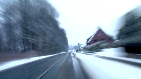 highspeed into little town time lapse Stock Video Footage