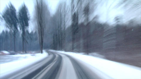 winter country roads time lapse Stock Video Footage