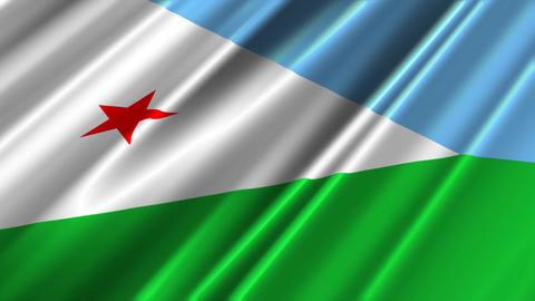 DjiboutiFlagLoop02 Stock Video Footage