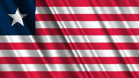 LiberiaFlagLoop01 Stock Video Footage