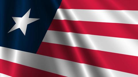 LiberiaFlagLoop03 Stock Video Footage