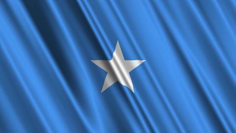SomaliaFlagLoop01 Stock Video Footage