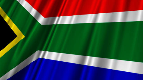 SouthAfricaFlag02 Stock Video Footage
