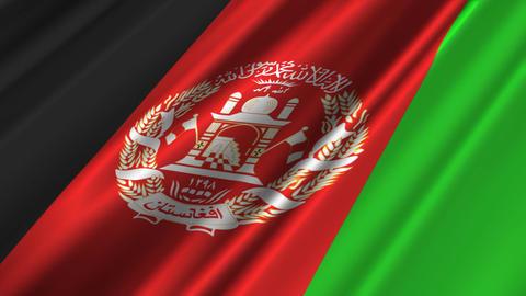 AfghanistanFlagLoop02 Stock Video Footage