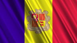 AndorraFlagLoop01 Stock Video Footage