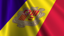 AndorraFlagLoop03 Stock Video Footage