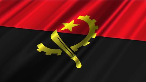 AngolaFlagLoop02 Stock Video Footage