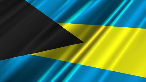 BahamasFlagLoop02 Stock Video Footage
