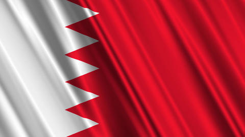 BahrainFlagLoop01 Stock Video Footage