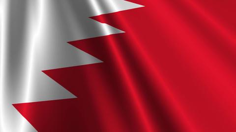 BahrainFlagLoop03 Stock Video Footage
