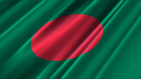 BangladeshFlagLoop02 Stock Video Footage