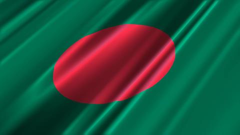 BangladeshFlagLoop02 Stock Video Footage