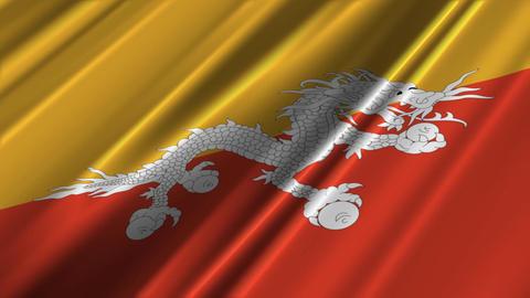 BhutanFlagLoop02 Stock Video Footage