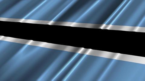 BotswanaFlagLoop02 Stock Video Footage