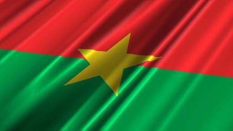 BurkinaFasoFlagLoop02 1 Stock Video Footage