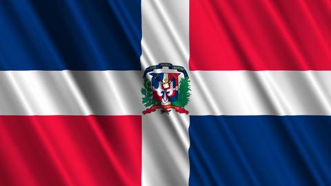 DominicanRebublicFlagLoop01 Stock Video Footage