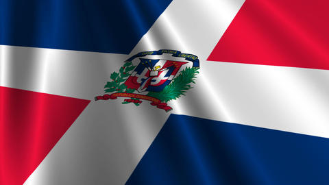 DominicanRebublicFlagLoop03 Stock Video Footage