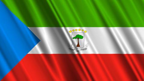 EquatorialGuineaFlagLoop01 Stock Video Footage