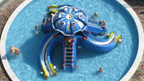 children in pool time lapse Footage