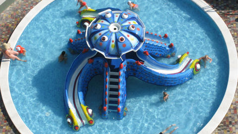 children in pool time lapse Stock Video Footage