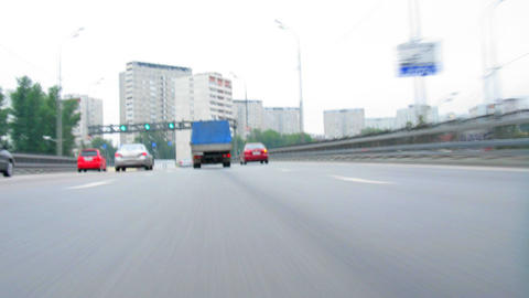 moving on road near ground time lapse Stock Video Footage