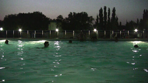 night pool Stock Video Footage