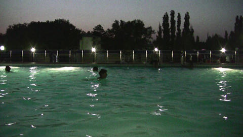 night pool Footage