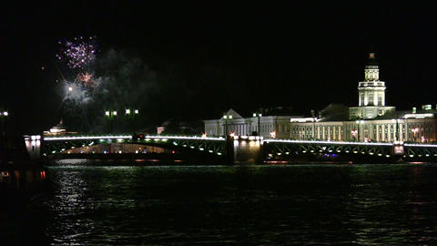 fireworks on Neva Footage