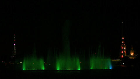 fountain on Neva Footage