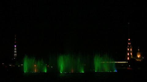 fountain on Neva Stock Video Footage