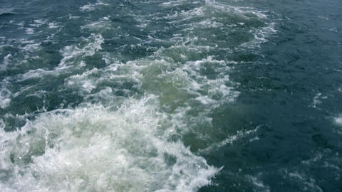ship water trace Stock Video Footage