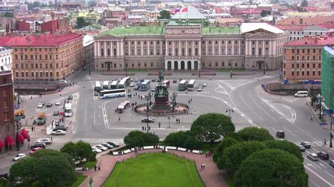 square in Petersburg Stock Video Footage