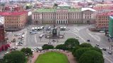 Square In Petersburg stock footage