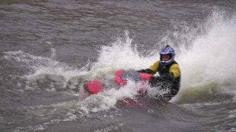 water bike Stock Video Footage
