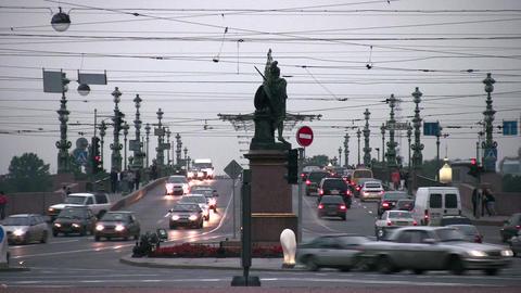 bridge road in Petersburg Footage