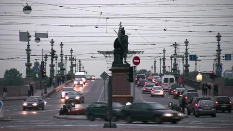 bridge road in Petersburg Stock Video Footage