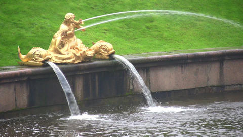 fountain. Peterhof. Petersburg Stock Video Footage