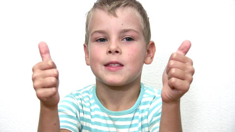 boy giving OK Stock Video Footage