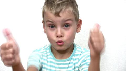 boy giving OK Footage