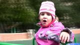 Little Girl On Carousel stock footage