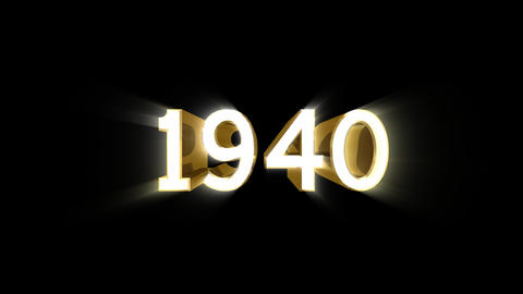 Year 1940 a HD Stock Video Footage