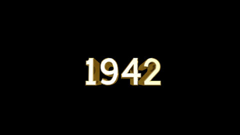 Year 1942 a HD Stock Video Footage