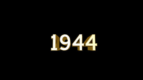Year 1944 a HD Stock Video Footage