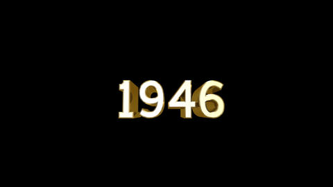 Year 1946 a HD Stock Video Footage