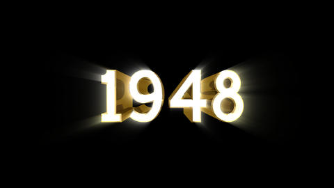 Year 1948 a HD Stock Video Footage