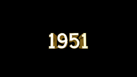 Year 1951 a HD Stock Video Footage